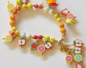 Fruit salad bracelet
