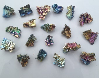 Lot of 10 Bismuth Crystals