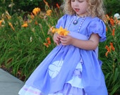 Sofia the First inspired peek a boo dress ruffle dress custom made size 12months-3t