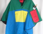 60s MOD rare collectible Mary Quant vinyl rain poncho aunthentic primary colours deadstock : new in bag one size