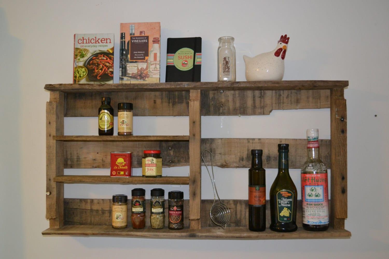 Rustic Spice Rack reclaimed pallet wood