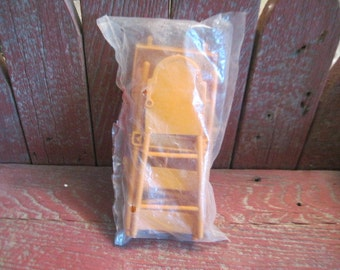 Sunshine Family Doll High Chair and 2 kitchen Chairs Never Opened Still in Package ,Sunshine Doll, Mattel Doll, Sunshine Dolls furniture :)s