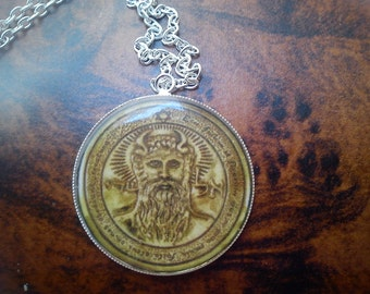 First Pentacle of Sun pendant.