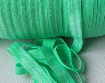 Mint Green Fold Over Elastic - FOE - 5/8 Inch Fold Over Elastic - Headband Elastic  - Elastic Ribbon Baby Headbands - Foldover Elastic