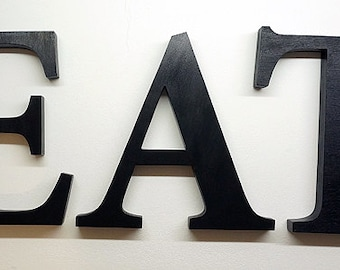eat sign - wooden letters - kitchen sign - wall sign - decor