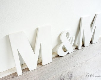 Initials with ampresand - Wedding letters - Wedding decor - Personalized - Custom