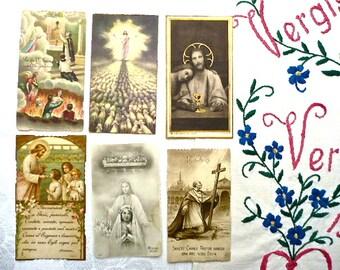 13 Vintage Religious Cards, Italian, Australian - Antique, Vintage Holy Cards, Sympathy Cards, Religious Postcards x 13