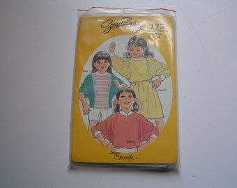 Vintage Designs by Brenda Pattern 175 Child Dolman Sleeve