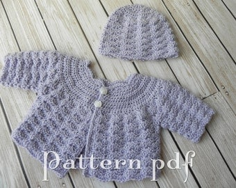"PDF Pattern - 15"" or 18"" Doll Crocheted Sweater and Hat Pattern"