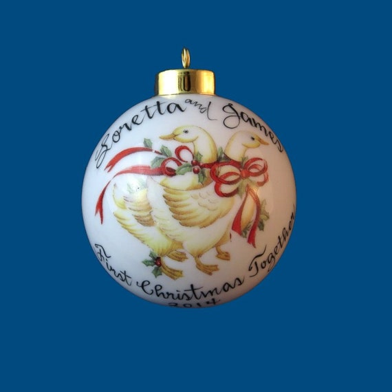 personalized christmas ornaments items similar to personalized painted 11867