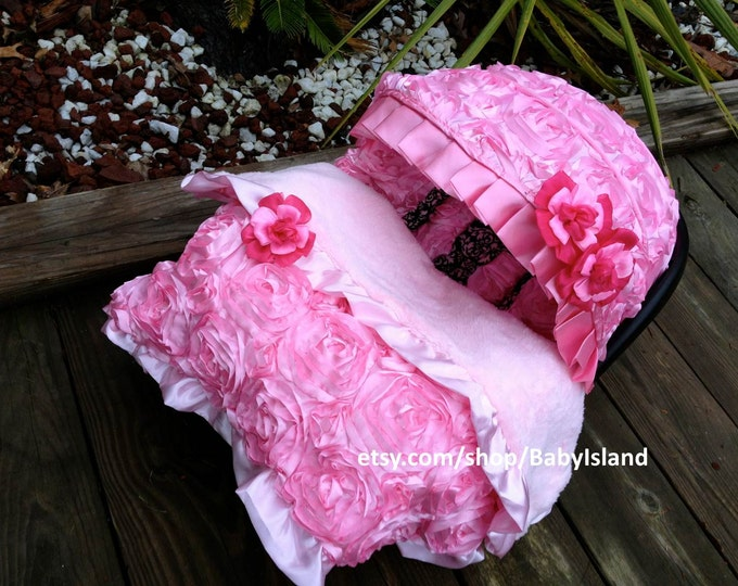 45%off Beautiful 3D baby pink rosy Infant car Seat Cover Baby car seat cover & Car Seat Cover - Rosy Kids