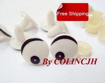 10Pairs Toy Eyes Cartoon Safety Eyes Animal Craft Eyes Plastic Eyes With Plastic Washers