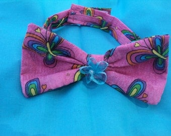 Pink ans blue Dog Bow S