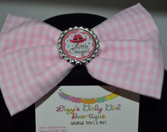 Vintage Cowgirl Hair Bow