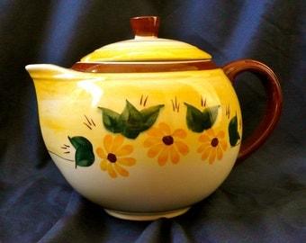 Vintage Vernonware Teapot Brown Eyed Susan Pattern