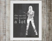Buffy the Vampire Slayer Pop Culture Print - 'she saved the world a lot'