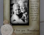 Grandma Gift Wedding Frame Bride Keepsake Personalize Picture Frame 4x6 grandmothers.5x7