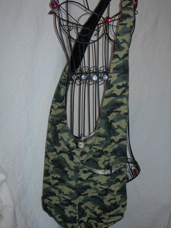 Here it is by popular demand a Camo Hobo Bag... Very roomy,durable, and comfortable...Check out the US Treasury lining