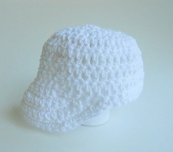 White Baseball Cap  Baby Boy Cotton Newsboy Infant Girl Summer Hat  3 To 6 Months Children Spring Clothing