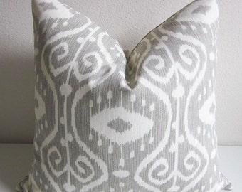 Bali Ikat Pillow Cover Ethnic Pillow Cover Tribal Pillow Gray Pillow Grey Pillow Bohemian Pillow Home Decor Decorative Pillow Treasury