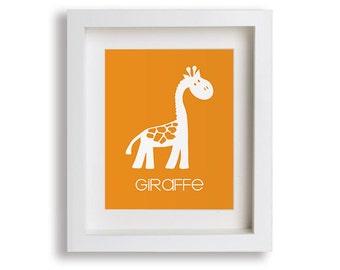 Baby's First Art Print - Giraffe - Nursery Decor, Nursery Wall Art, Zoo Animals, Children's Wall Art, Playroom Decor, Zoo Animals