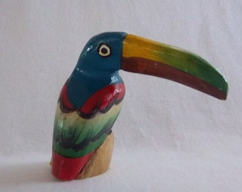 Hand Carved and Painted Toucan