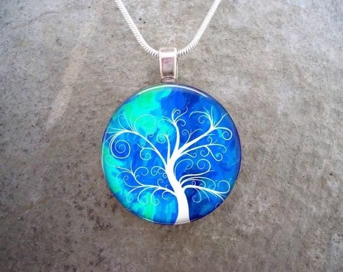 Tree Jewelry - Glass Pendant Necklace - Tree of Life Jewellery - Tree 21