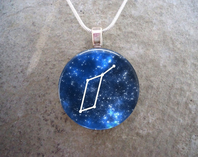 Constellation Lyra - Glass Pendant Necklace - Astronomy