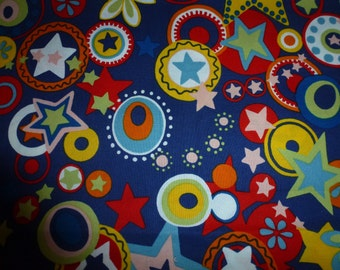 One Yard of Alexander Henry Cotton Fabric  Rodeo Star  Bright and Colorful
