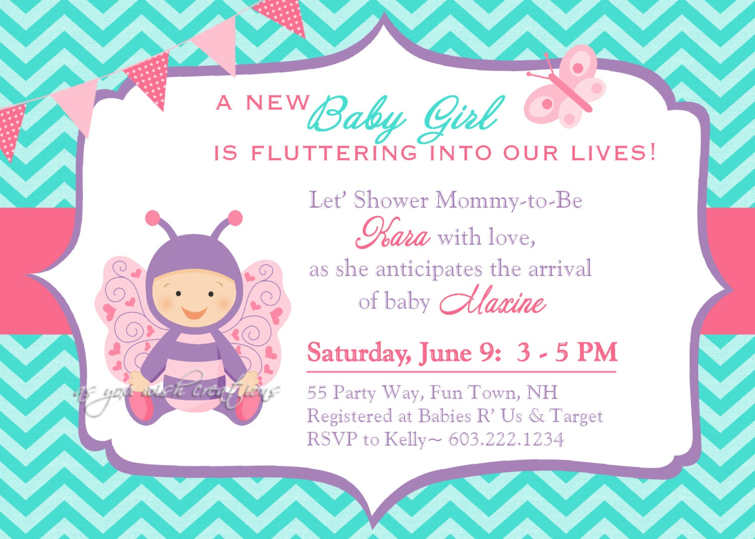 butterfly baby shower invitation girl butterfly baby shower, Baby shower invitations