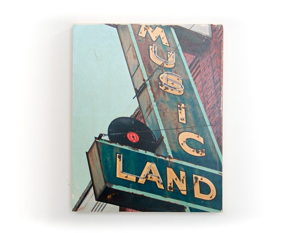 "Music Land- Limited Edition Fine Art Photo Transfer on 16""x20"" Wood Panel by Patrick Lajoie"