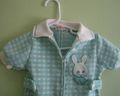 Vintage Healthtex by Stantogs green plaid shorts outfit, size 18 months
