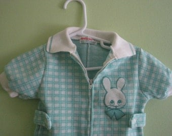 Vintage Healthtex by Stantogs green plaid shorts outfit, size 18 months, Easter