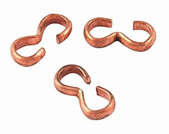 50pc  copper finish metal 8 shape clasps/quick links-8350