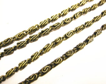 5 feet Myriad Iron Chain in antique bronze color-378