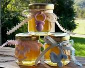 HillsideBees Baby Shower Favors, 48 Raw Wildflower Honey 2oz Jars, Raw Honey, Tennessee Wildflower, Baby Charms, Honey gift Baby Keepsake