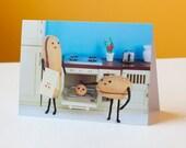 Bun in the Oven - Congratulations Card