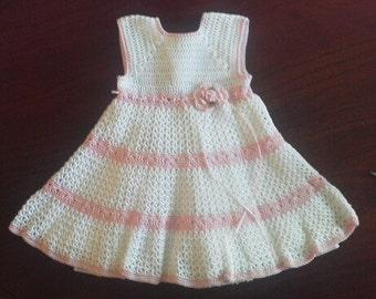 3 to 6 mo elegant crocheted dress
