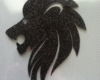 Roaring Lion Glitter Decal