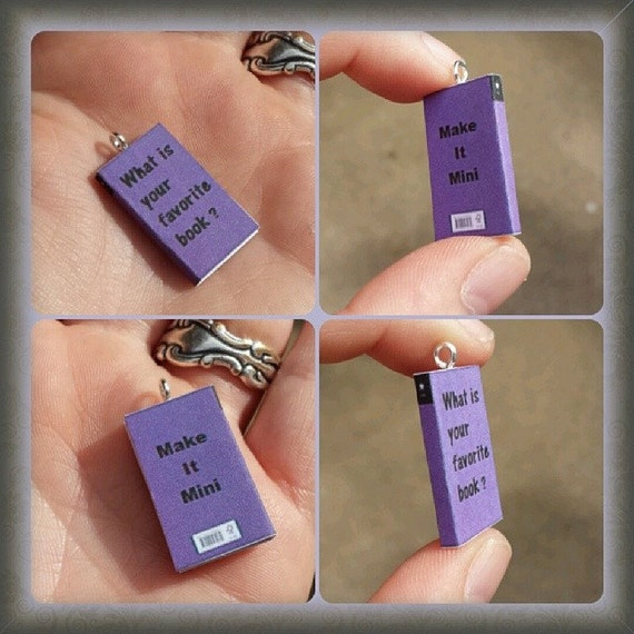 Miniature Book Charms - You choose the books you want - Your favorite titles made mini