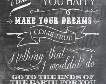 Make You Feel My Love - Adele/Garth Brooks Lyrics - Vertical Print
