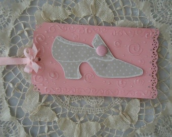 """Large """"Shoe Chic""""  gift/decorative tag"""