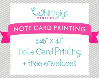 NOTE CARD PRINTING with Envelopes