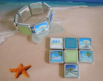 tropical key west beach elastic bracelet
