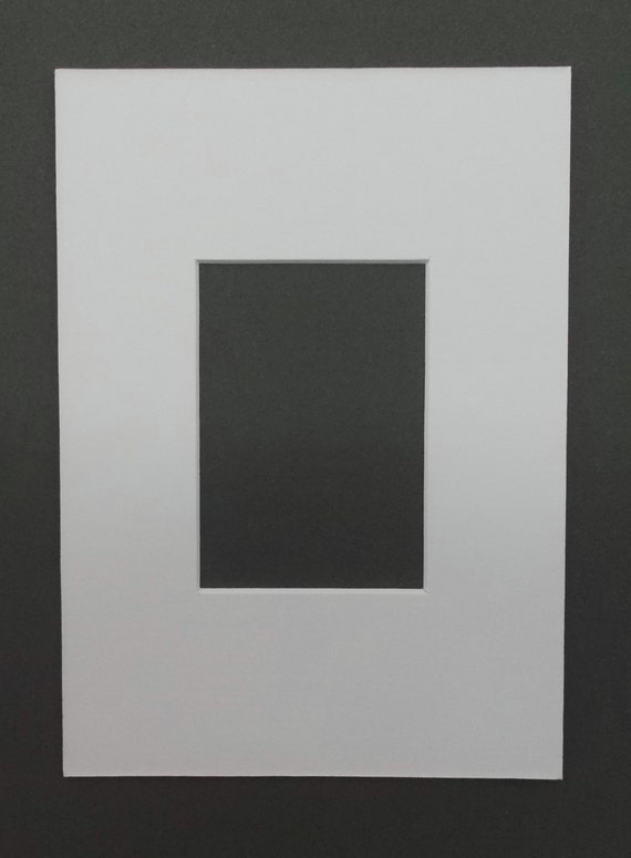 Package of (10) 5X7 White Mats with White Core Bevel Cut for 2.5 x 3.5 ACEO or Sport Cards