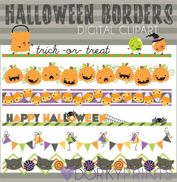Halloween Clipart Halloween Borders -Personal and Limited ...
