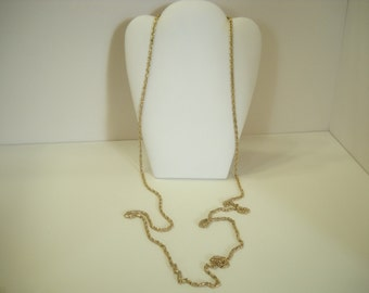 "Vintage 49"" Gold Tone Chain Necklace (9178)"