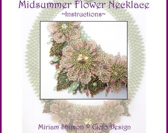 Midsummer Flower Necklace Instructions