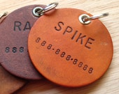 Leather Dog ID Tags