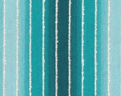 Turquoise Ombre Stripe Upholstery Fabric - Aqua Blue Teal Textured Pillow Fabrics - Modern Ombre Headboard Material - Turquoise Roman Shade